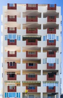 An appartment block in Peñíscola, Spain.
