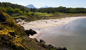 The beach at the village of Gairloch, Scotland.