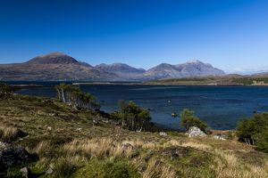 Beinn Alligin and Liathach in Torridon, Scotland.