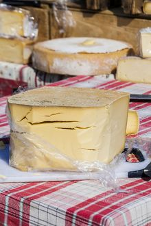 Cheese on sale at Les Saintes Maries de la Mer in France.