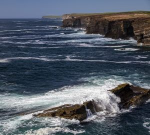 The cliffs at Yesnaby, Orkney, Scotland.
