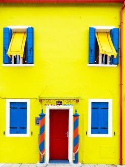 The colourful Cimbal Gallery on the island of Burano near Venice