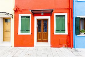 A colourful house on the island of Burano near Venice