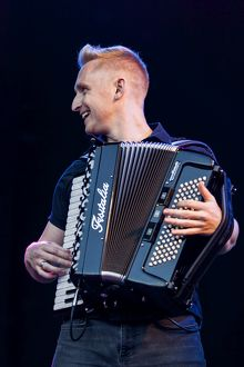 Daniel Anthony Gillespie of Skerryvore playing at Oban Live in Scotland
