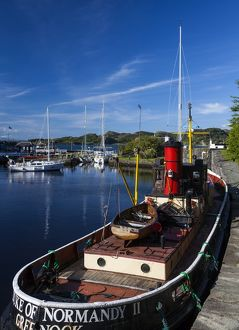 The 'Duke of Normandy II' in the Crinan Canal, Argyll & Bute, Scotland