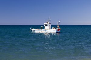 A fishing boat at Cabo de Gata in Spain