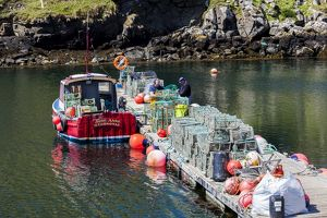 A fishing boat in the Western Isles, Scotland.