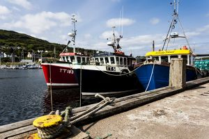 Fishing boats at Tarbert, Scotland.