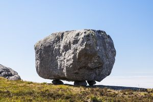 A glacial erratic on the island of Coll in Scotland.