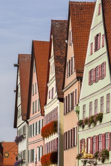 Houses in the main street of Dinkelsbühl in Germany.