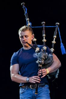 Martin Gillespie of Skerryvore playing at Oban Live in Scotland