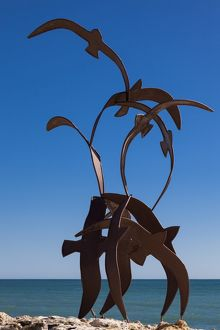 Metal sculpture, Moraira, Spain.