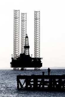 An oil rig at Cromarty, Scotland