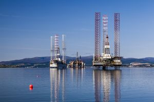 Oil rigs at Cromarty, Scotland