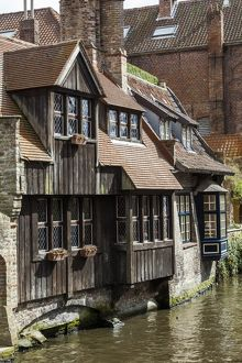 Old houses in Bruges, Belgium.