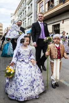Part of the procession honouring St Joseph in Burriana, Spain.