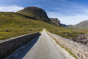 The road to the Bealach na Bà, Scotland