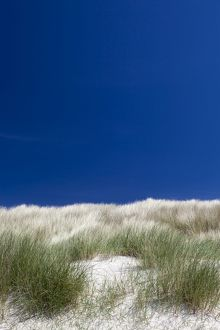 Sand dunes at Cliad Bay in Coll, Scotland.