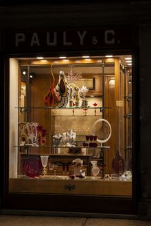 A shop window in St Mark`s Square in Venice