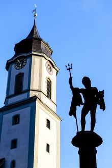 The statue of Neptune in Lindau, Germany.