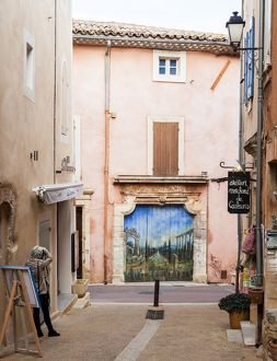 A street in the town of Rousillon in France