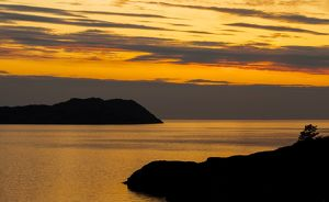 Sunset at Shieldaig in Torridon, Scotland.
