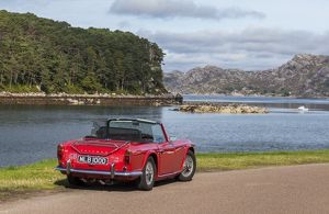 A Triumph TR4 at Shieldaig, Scotland