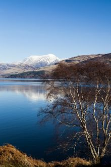 The view to Ben Nevis from Ardgour, Scotland.