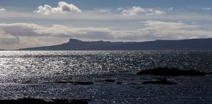 The view to Eigg from Arisaig, Scotland.