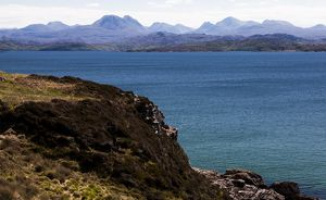 The view from Gairloch to the Torridon hills, Scotland.
