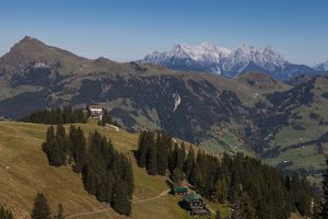 The view from Hahnenkamm, Tyrol, Austria.