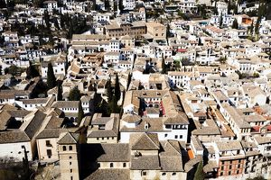 A view of the rooftops of Granada in Spain.