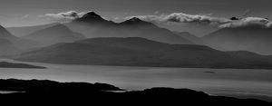 A view of Skye from the Bealach na Bà, Scotland