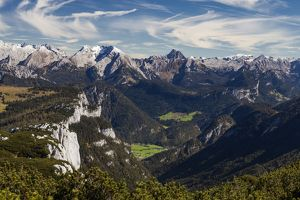The view from Steinplatte, Tyrol, Austria.