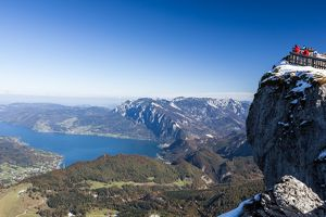 A viewpoint on Schafbergspitze in Austria.