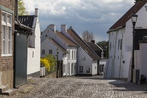 Whitewashed houses in Thorn, Netherlands.