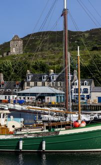 Yachts in the marina at Tarbert, Scotland.