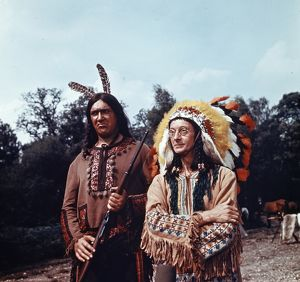 Bernard Bresslaw and Charles Hawtrey in a scene from Carry On Cowboy