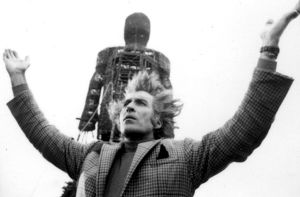 A black and white image from The Wicker Man (1973)