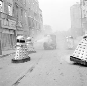 Daleks chase the rebels vehicle
