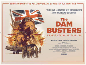 The Dam Busters 2018 re-release quad artwork