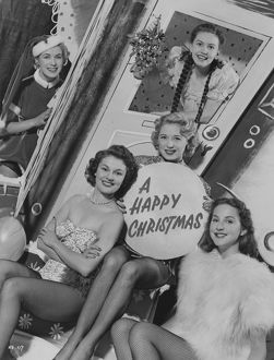 Happy Christmas greetings portrait taken at Elstree Studios in 1952