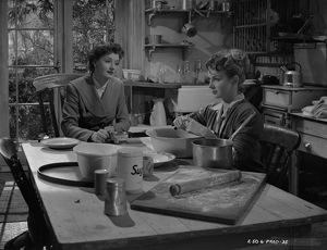 Joan Greenwood and Helen Cherry in a scene from Young Wives' Tale