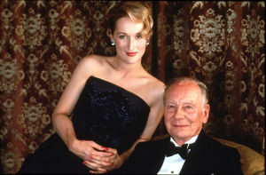 A portrait of Meryl Streep and John Gielgud for the promotion of Plenty (1985)