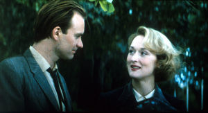A portrait of Meryl Streep and Sting from a scene of Plenty (1985)