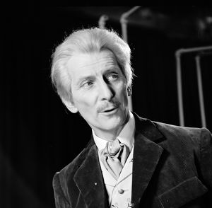 A portrait of Peter Cushing as Dr Who