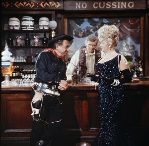 Sid James as the Rumpo Kind, Percy Herbert and Joan Sims in a scene from Carry On Jack