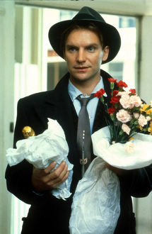 A spiv style portrait of Sting from a scene in Plenty (1985)
