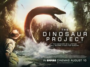 UK quad artwork for the film The Dinosaur Project (2012)