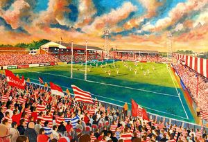 Central Park Stadium Fine Art - Wigan Warriors Rugby League Club